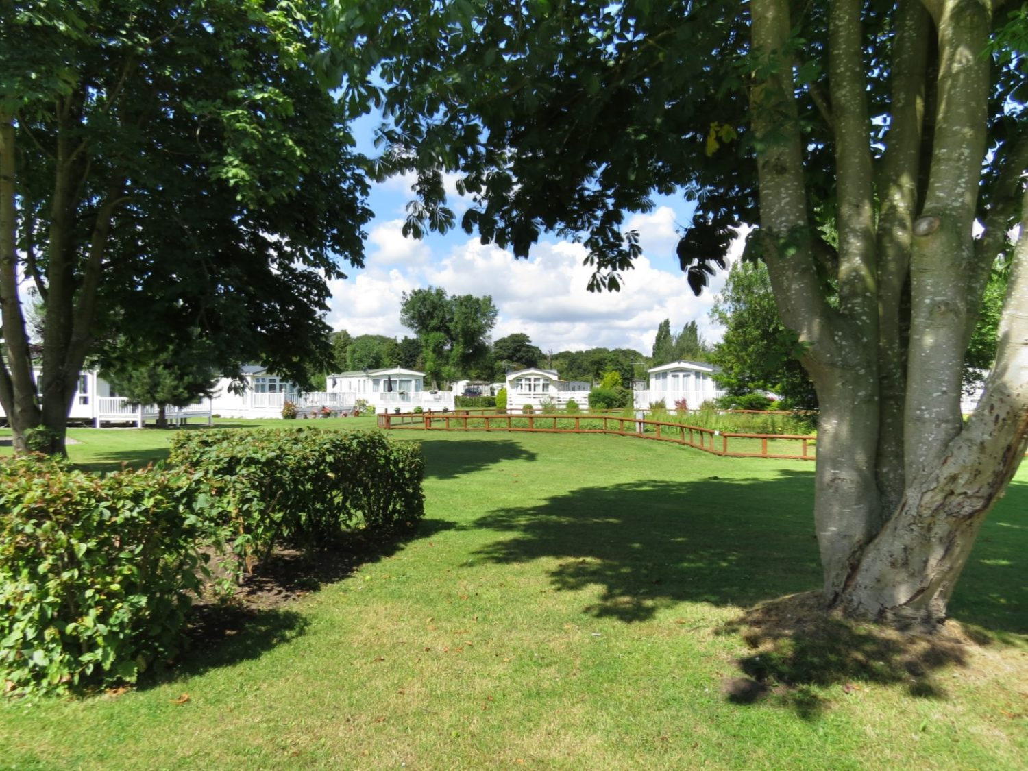 Fantastic gardens are well kept at Fir Trees Caravan Park