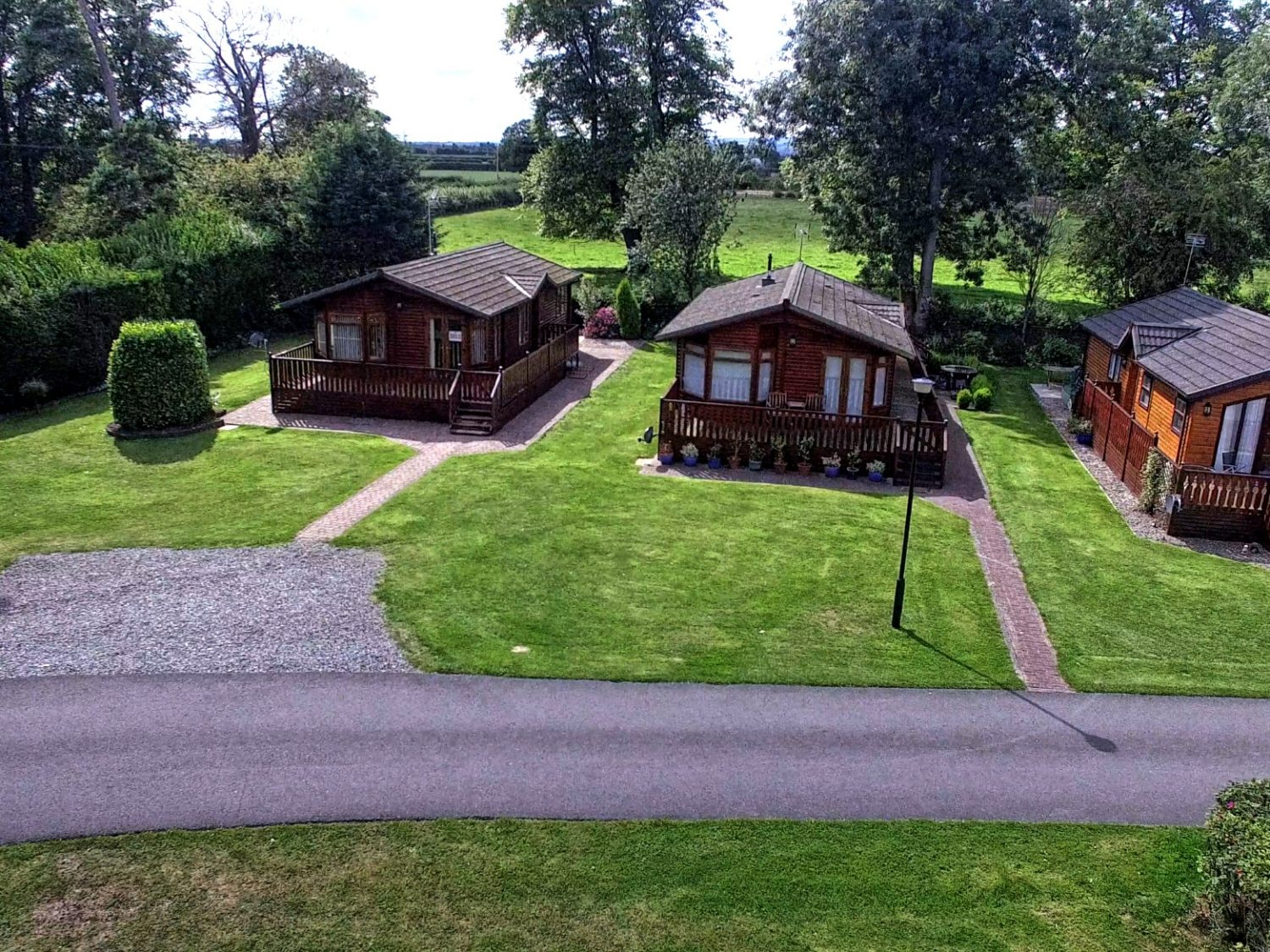Views above the lodges at Fir Trees Caravan and Lodge Park